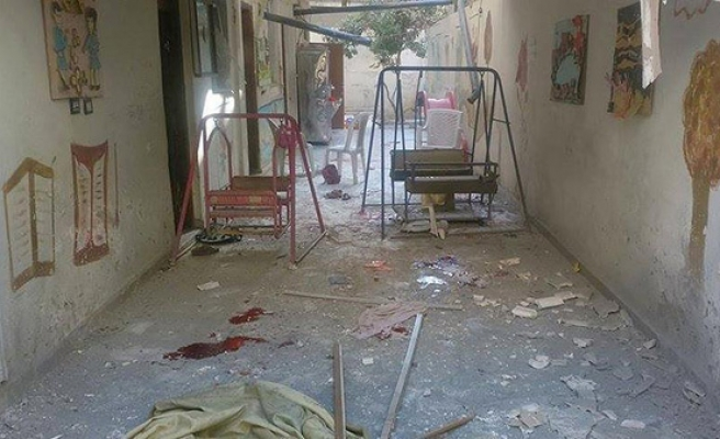 Regime shells nursery school in Syria, 8 children die