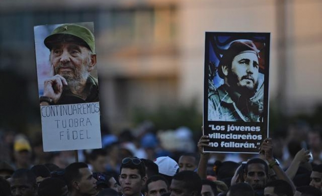 Cubans hold mass rally for late leader Fidel Castro