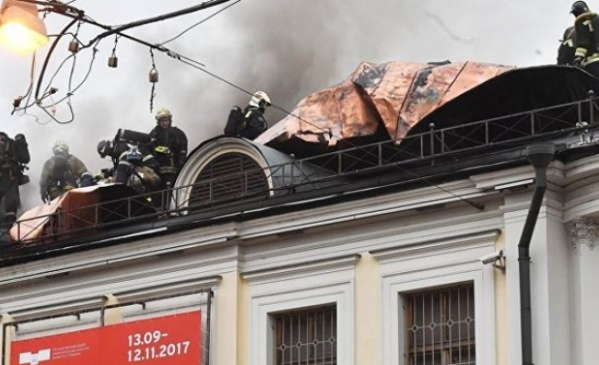Dozens evacuated after fire at Moscow's Pushkin museum