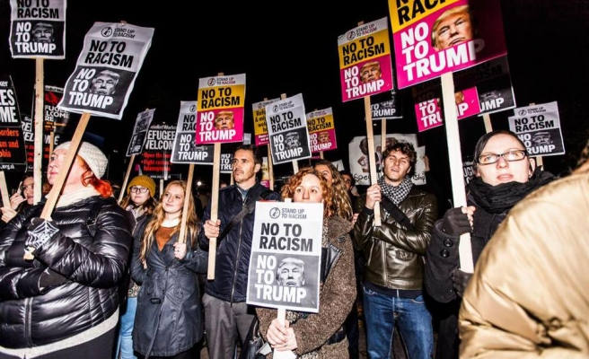 'Together Against Trump', thousands protest in UK