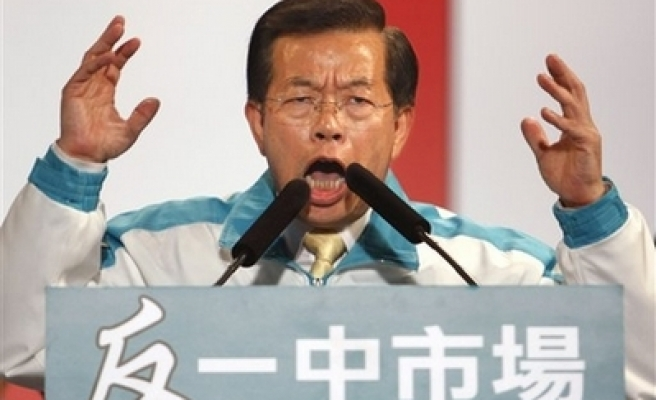 Taiwan' presidential candidate apologizes for slander