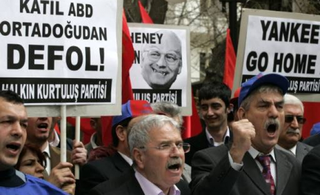 Protest as US Cheney arrives in Ankara