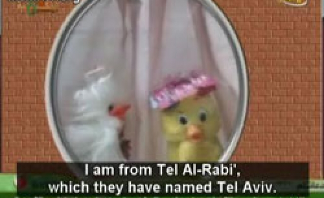 Hamas TV puppets discuss 'Israel's 60th Anniversary' VIDEO