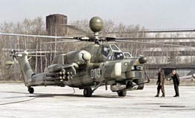 Russian army helicopter crashes, killing crew of three