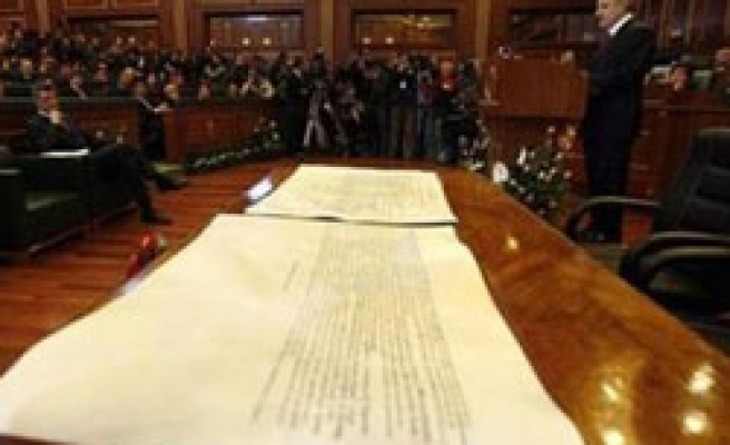 Kosovo's first constitution comes into force
