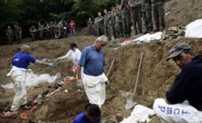Nearly 100 Srebrenica victims exhumed in eastern Bosnia