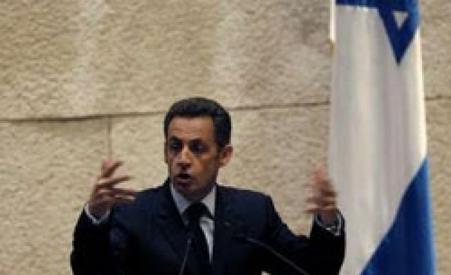 Sarkozy: No peace deal without halt to Israel settlement