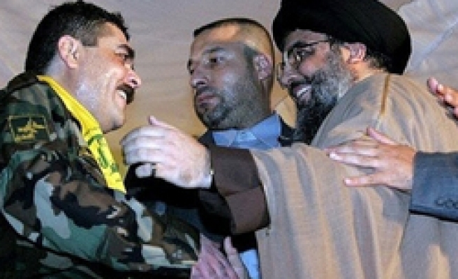 Hezbollah chief welcomes freed prisoners