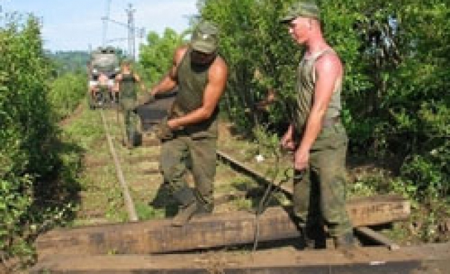 Russian railway troops to quit Abkhazia in August