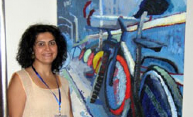Turkish painter wins gold medal in Olympics