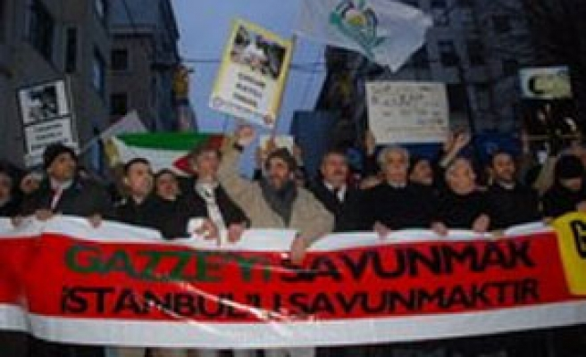 Israeli attack on Gaza condemned in Turkey's rally