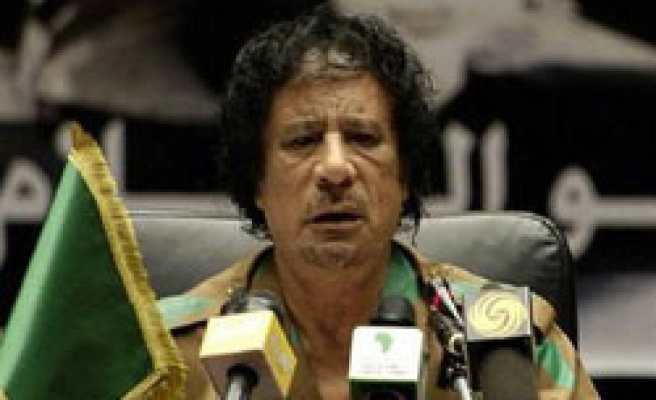 Libya's Gaddafi assails Arab leaders over Gaza