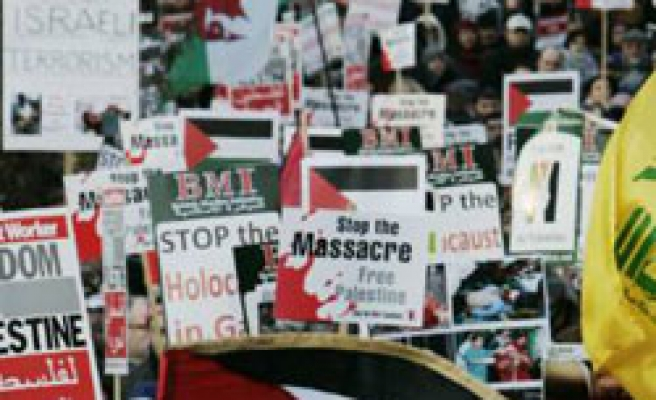 Protests in Europe denounce Israel massacre over Gaza