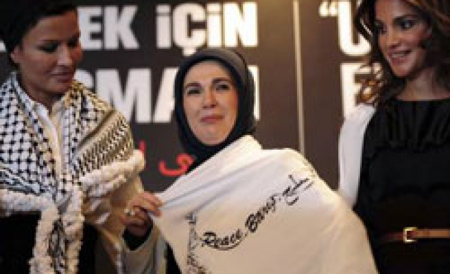 Turkish PM's wife says to form committee for Palestine peace