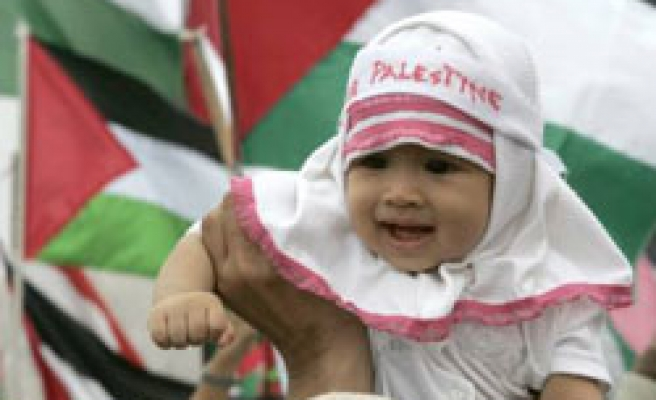 Indonesians say 'Save Palestine' in Israel protest / PHOTO