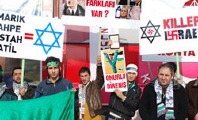'Killer Israel planes' protested in Turkey / PHOTO