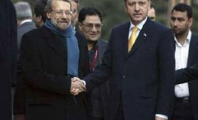 Turkish PM Erdogan meets Iran's Larijani over Gaza