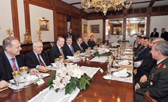 Meeting at Turkish Presidential Place ends