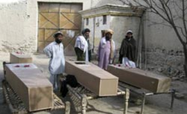NATO says killed 97 Afghans, right body says 700
