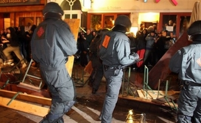 Protests in Germany over raids