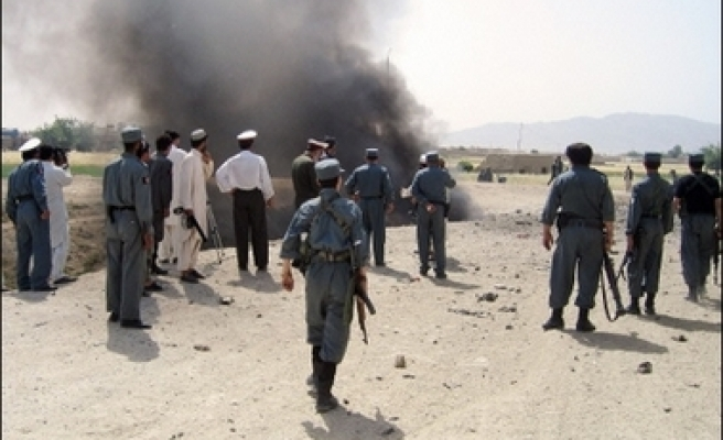 2 blasts kill 10 Afghan police officers