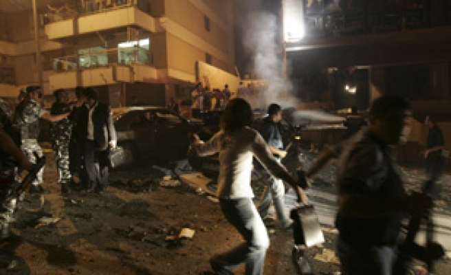 Explosion hits busy car park in Beirut