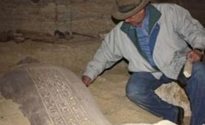 About 30 Egyptian mummies found in ancient cache