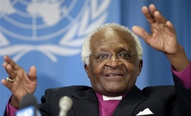 South Africa's Tutu urges Dutch pension fund to divest from Israeli banks