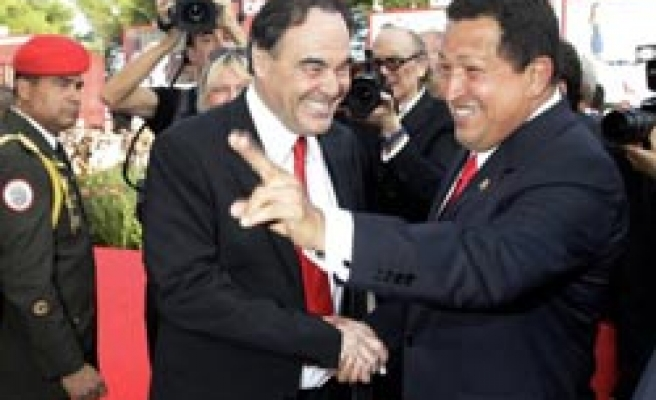 Venezuela's Chavez welcomed like star in Venice for Stone film / PHOTO