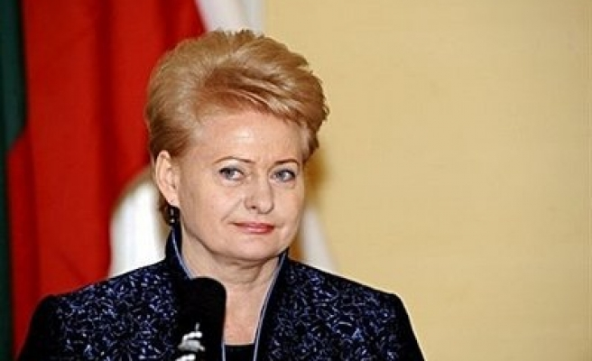 Lithuania's president wins second term on anti-Russia platform