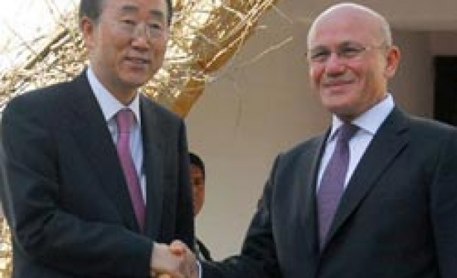 UN's Ban in Turkish Cyprus says impressed by 'progress' / PHOTO