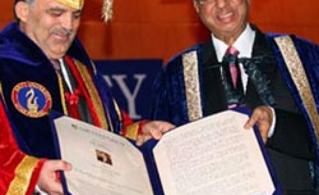 Turkish President decorated with Indian honorary doctorate