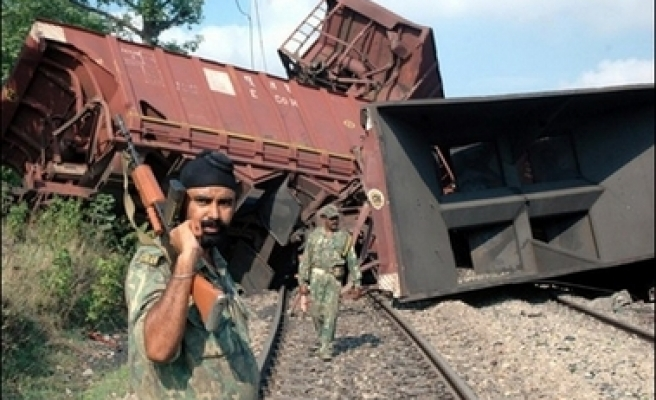 Maoists blow up railway station in India