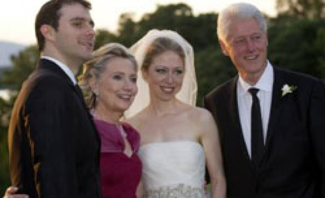 Bill and Hillary Clinton's daughter marries in New York