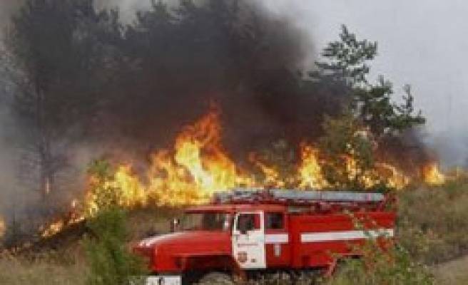 Russia forest fire destroyed 13 hangars at base