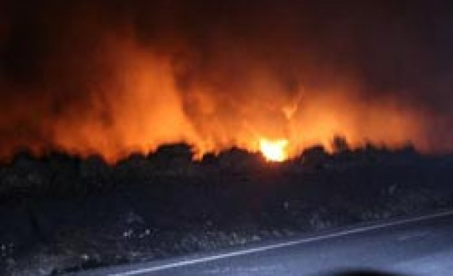 Turkey stops oil flow amid raging fire after suspected PKK attack