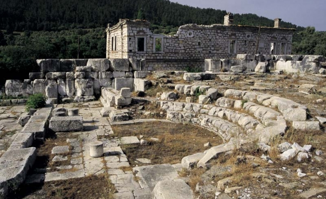 Sacred spring found in Stratonikeia ancient city in Turkey