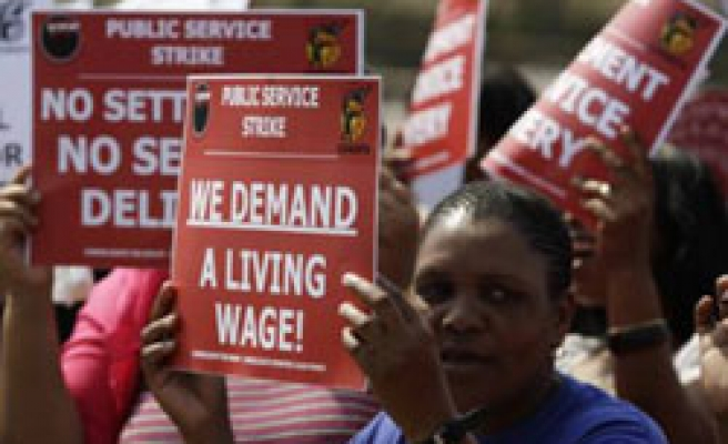 Striking S. African workers to vote on new wage offer