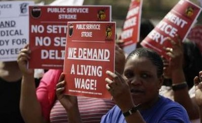 South Africa state workers reject wage offer