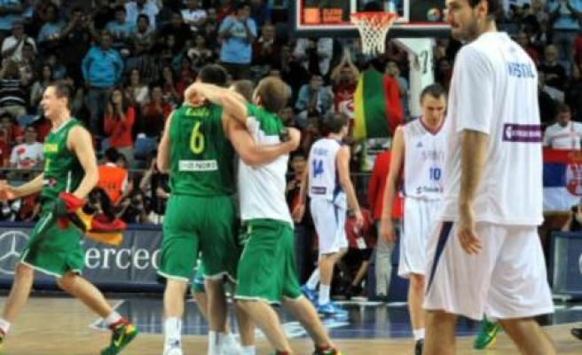 Lithuania beats Serbia 99-88 in third-place game at basketball worlds