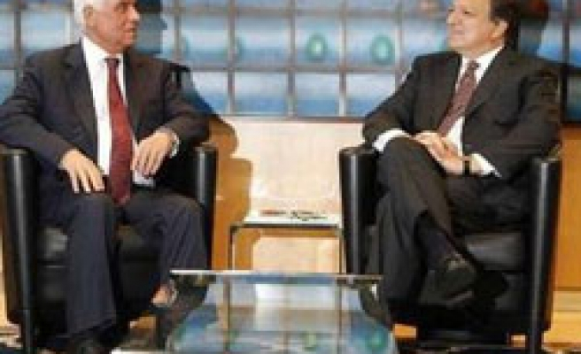 Turkish Cyprus President meets senior EU officials