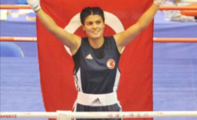 Turkish woman boxer wins gold medal