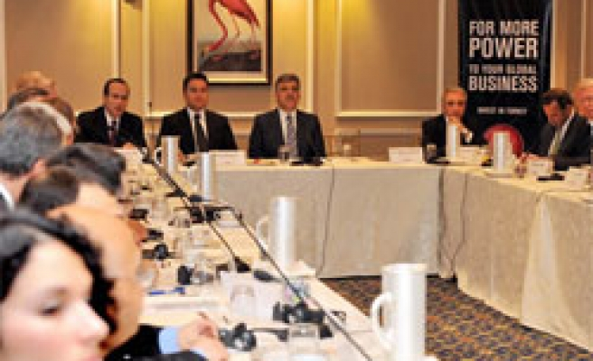 Gul gets together with leading Turkish, US firm executives in NY