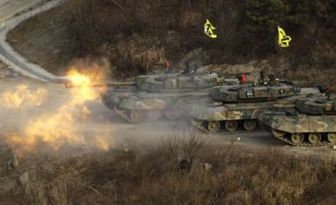 North Korea conducts firing drills near border with South -UPDATED
