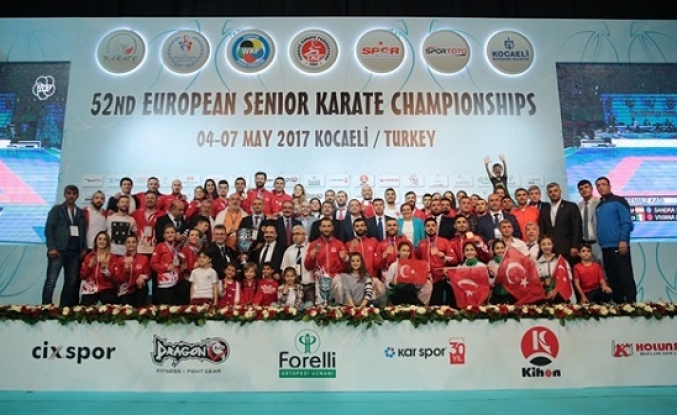 Turkey is European Karate champion with most medals