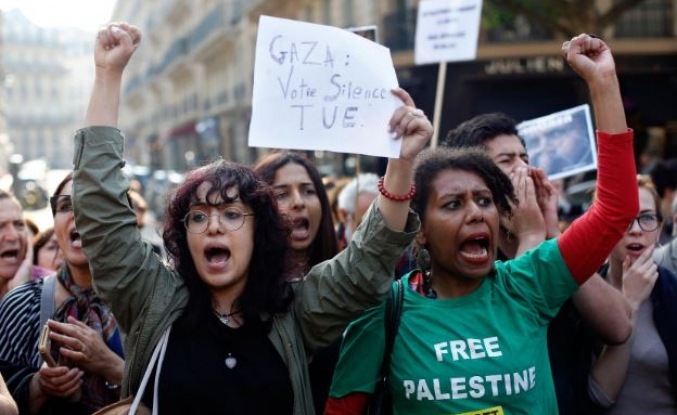 Australians demonstrate in support of Palestinians