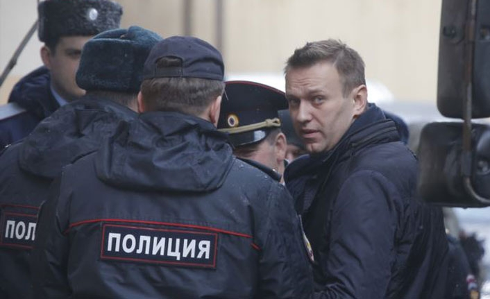 Russian opposition leader Navalny detained on release from prison