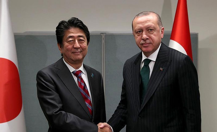 Turkey's president meets Abe, Rouhani