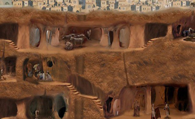 At a depth of more than 250 feet with a capacity of up to 20,000 people, this multi-leveled city contained everything an entire population would need to survive a history riddled with invasions.