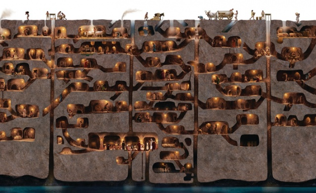 Derinkuyu is the deepest excavated underground city in Cappadocia in the Central Anatolia region of Turkey.